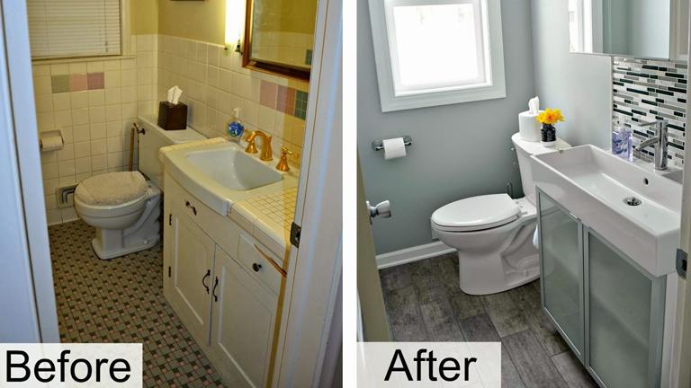 Easy Diy Bathroom Renovations Image Of Bathroom And Closet