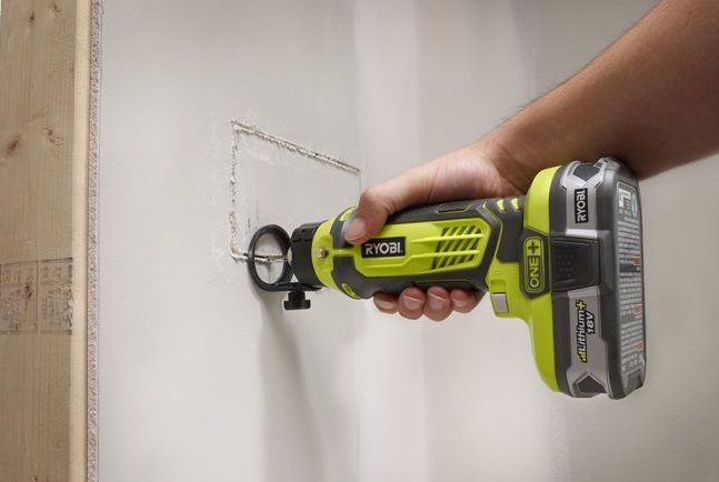Cutting drywall with a Rotary Tool