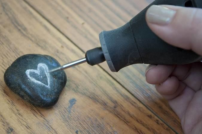 Carving Rock with a Dremel rotary tool