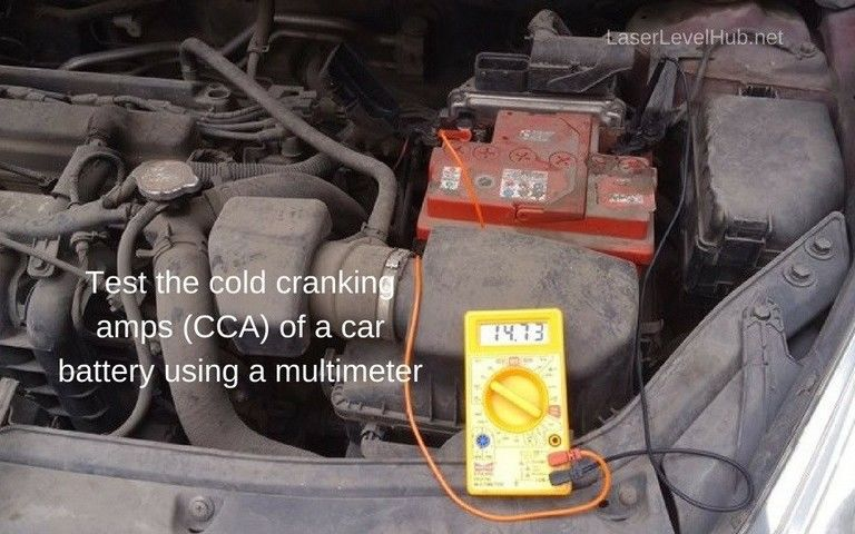 Test The Cold Cranking Amps (CCA) of a Car Battery With a Multimeter